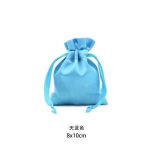Satin gift drawstring pouch bags wedding bags