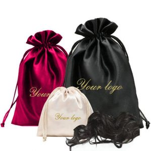 Fabric satin wedding pouches gift bags