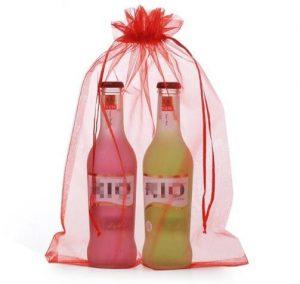 organza bag store bottle