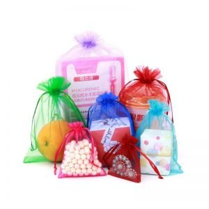 4×6 Inches Mixed Color Organza Gift Bags with Drawstring
