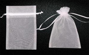 5x7 inches Sheer Drawstring Organza Jewelry Pouches