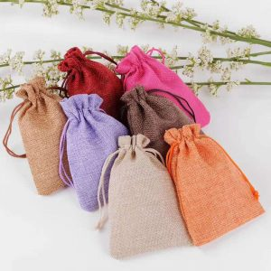 imitation hessian pouch