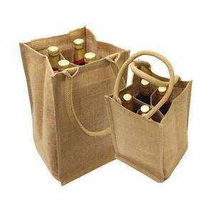 Cheap Jute Wine Bags Bottle Tote