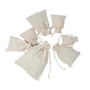 Cotton Linen Gift Bag Travel Drawstring Storage Bags
