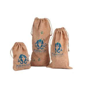 quality jute sack drawstring screen printed burlap bag