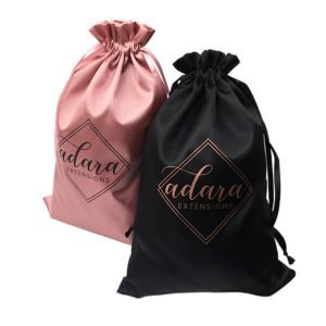 satin hair bags with logo