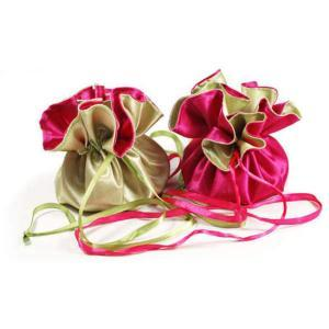 Satin Gift Bag Drawstring Pouch Wedding Favors Bags