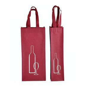 Four Bottle Reusable Non Woven Wine Tote Bag