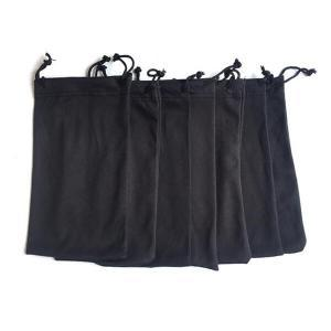 Microfiber Sunglasses Pouches Black 10x18mm