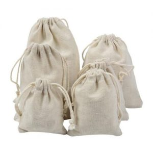 National Cotton Muslin Drawstring Pouch Bag