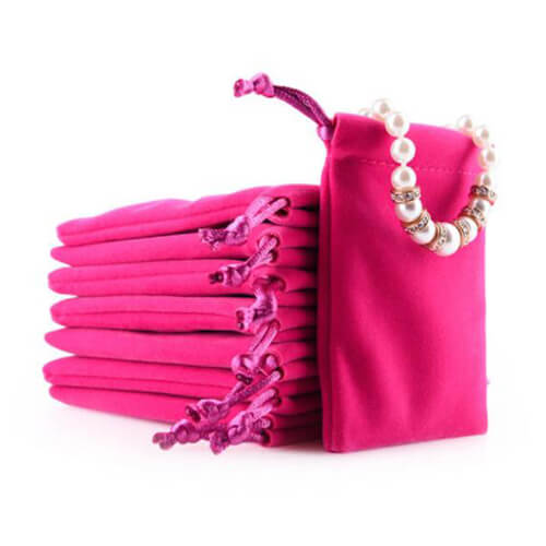 Velour Drawstring Jewelry and Gift Pouches