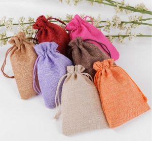 hessian drawstring pouches