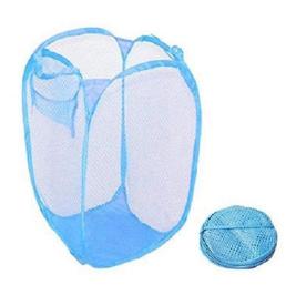Foldable Laundry Basket Mesh Bag