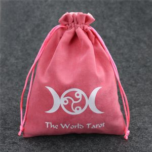 custom suede drawstring pouches with printed logo