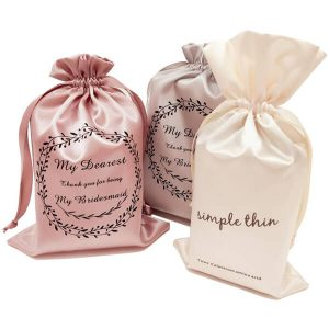 Hot Stamping Silk Satin Jewellery Pouches