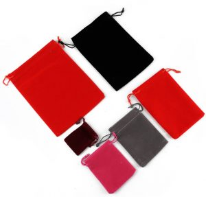 suede drawstring pouches