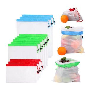 Zero-Waste Reusable Produce Bags – 12pcs