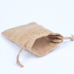 Natural Burlap Drawstring Pouches Favor Bags