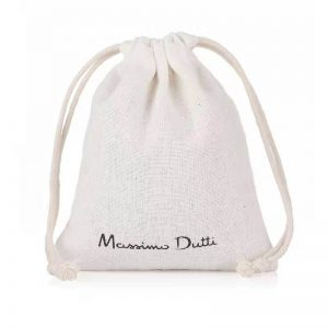 8 oz white cotton drawstring pouch bag
