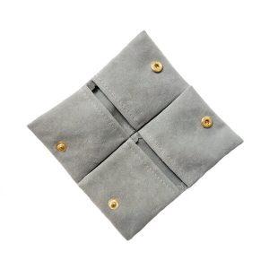 Mini Velvet Envelop Flap Pouch With Button Jewelry Pouch