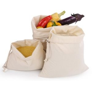 Cotton Drawstring Bags for fruit vegetable