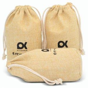 Fake Hessian Drawstring Pouch Bag Bulk Pack